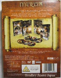 MERLIN シリーズ1UK版コンプリートDVD-BOX 外ケース裏